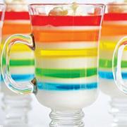 gelatina rainbow