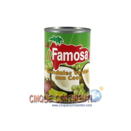 Guandules verdes con coco La Famosa