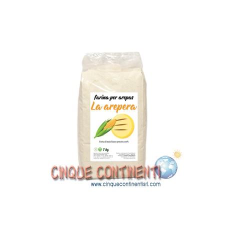 Farina di mais bianco per arepas