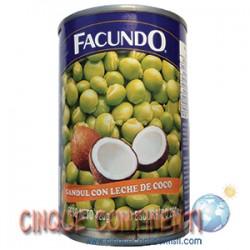 Guandules verdes con coco Facundo